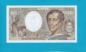 Billet 200 Francs Montesquieu - 1990