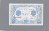 Billet 5 francs Bleu 04-03-1915