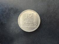 Turin, grosse tête - 10 francs 1945 - Rameaux courts