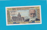 Billet 500 Francs Victor Hugo 04-08-1955