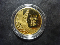 BE - Tour Eiffel - 5 francs or - 1989