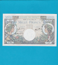Billet 1000 Francs Commerce et Industrie 6 avril 1944