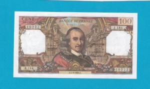 Billet 100 Francs Corneille 01-09-1966