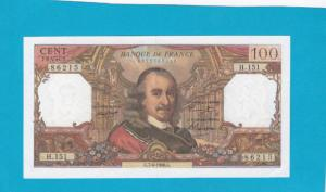 Billet 100 Francs Corneille 07-04-1966