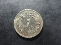 Lavrillier - 5 francs Nickel - 1938