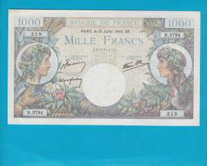 Billet 1000 francs Commerce et Industrie - 13-07-1944