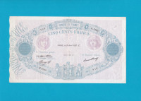 Billet 500 Francs Bleu et Rose - 15 avril 1937