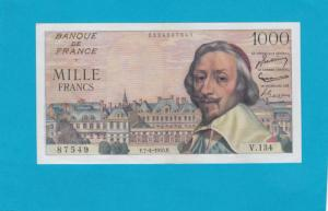 Billet 1000 Francs Richelieu - 07-04-1955