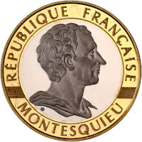 BE - Montesquieu - 10 francs or 1989