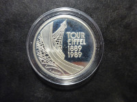 BE - Tour Eiffel - 5 francs argent - 1989