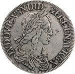 Louis XIII - Ecu de 60 sols 2nd poinçon de Warin- 1642 A - Paris