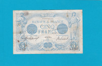 Billet 5 Francs Bleu 06-12-1912