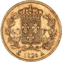 Charles X - 40 francs or 1828 A (Paris)
