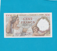 Billet 100 Francs Sully 30-11-1939