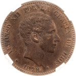 Espagne - Afonso XII - 10 centimos - 1878 - Barcelone