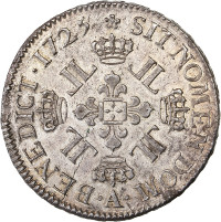 Louis XV - Ecu aux 8 L 1725 A (Paris)