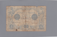 Billet 5 francs Bleu 15-01-1917