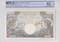 Billet 1000 francs Commerce et Industrie 13-07-1944 - PCGS UNC62