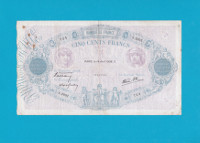 Billet 500 Francs Bleu et Rose - 14 avril 1938