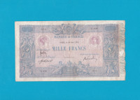 Billet 1000 Francs Bleu et Rose 24 avril 1915