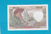 Billet 50 Francs Jacques Coeur - 18-12-1941