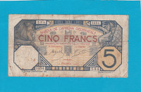 Afrique occidentale - billet 5 francs Dakar - 14-12-1922