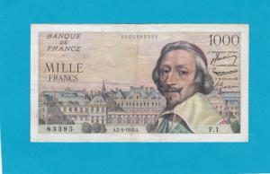 Billet 1000 Francs Richelieu - 02-04-1953