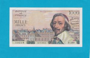 Billet 1000 Francs Richelieu - 01-09-1955