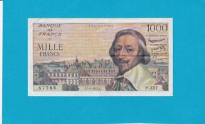 Billet 1000 Francs Richelieu - 07-03-1957