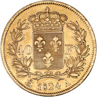 Charles X - 40 francs or 1824 A (Paris)